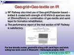 geo grid geo textile on ir