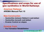 specifications and scope for use of geo synthetics in world railways22
