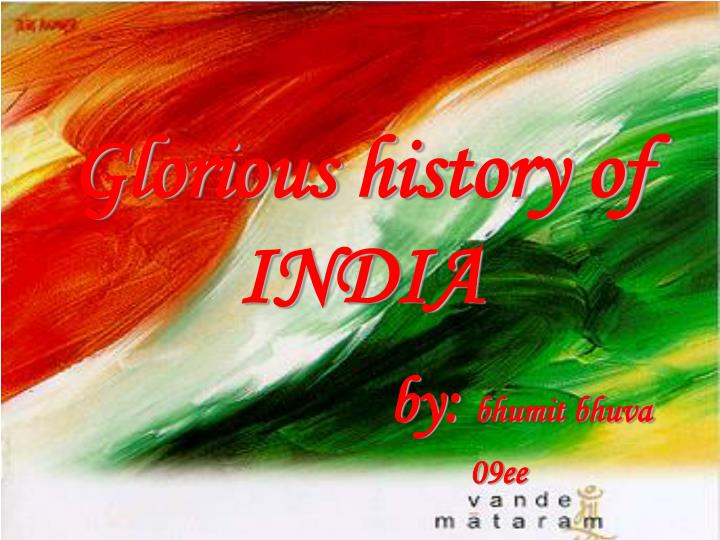 glorious history of india n.