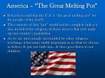 america the great melting pot