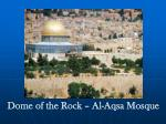 dome of the rock al aqsa mosque
