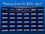 famous jews for 400 alex