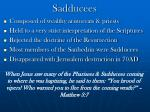 sadducees