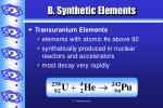 b synthetic elements