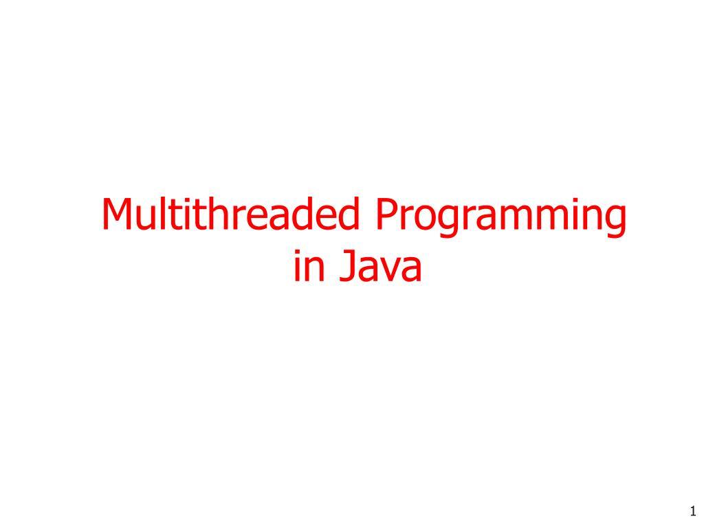 multithreaded programming in java l.