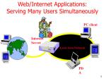 web internet applications serving many users simultaneously