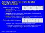 ventricular dysynchrony and cardiac resynchronization