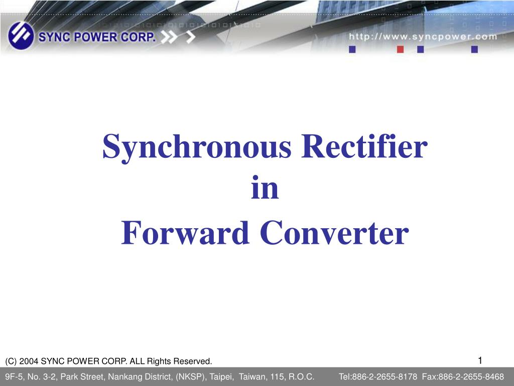 synchronous rectifier in forward converter l.