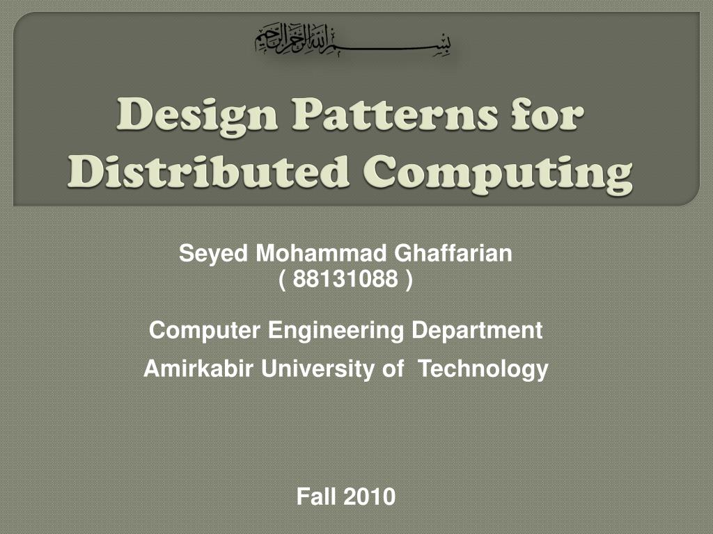 design patterns for distributed computing l.