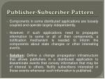 publisher subscriber pattern