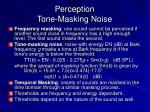 perception tone masking noise