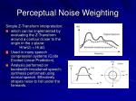 perceptual noise weighting44