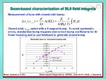 beam based characterization of bl9 field integrals