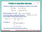 fields in insertion devices