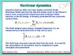 nonlinear dynamics11