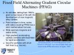 fixed field alternating gradient circular machines ffag