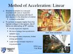 method of acceleration linear