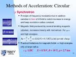 methods of acceleration circular15