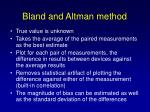 bland and altman method