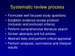 systematic review process