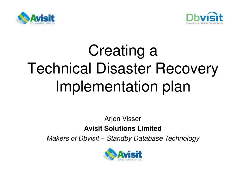 creating a technical disaster recovery implementation plan l.