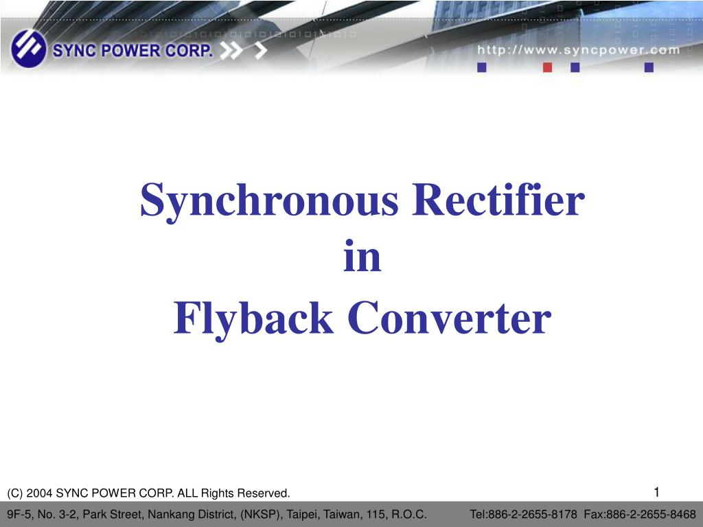 synchronous rectifier in flyback converter l.