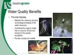 water quality benefits17