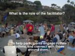 what is the role of the facilitator