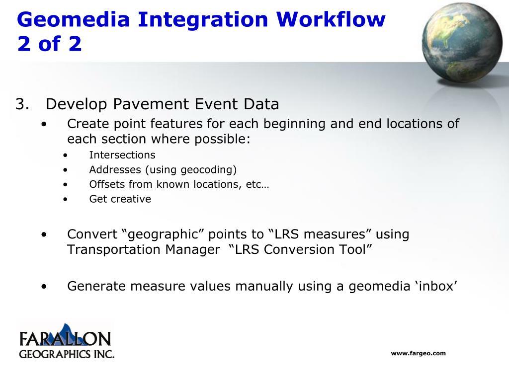 Geomedia Integration Workflow