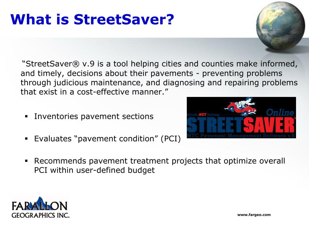 What is StreetSaver?