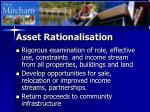 asset rationalisation