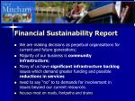 financial sustainability report