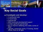 key social goals