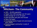 mitcham the community