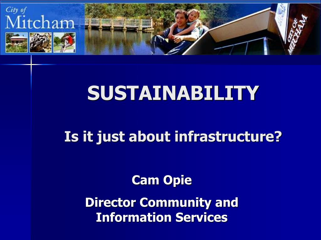 sustainability is it just about infrastructure l.