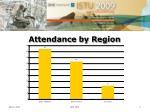 attendance by region