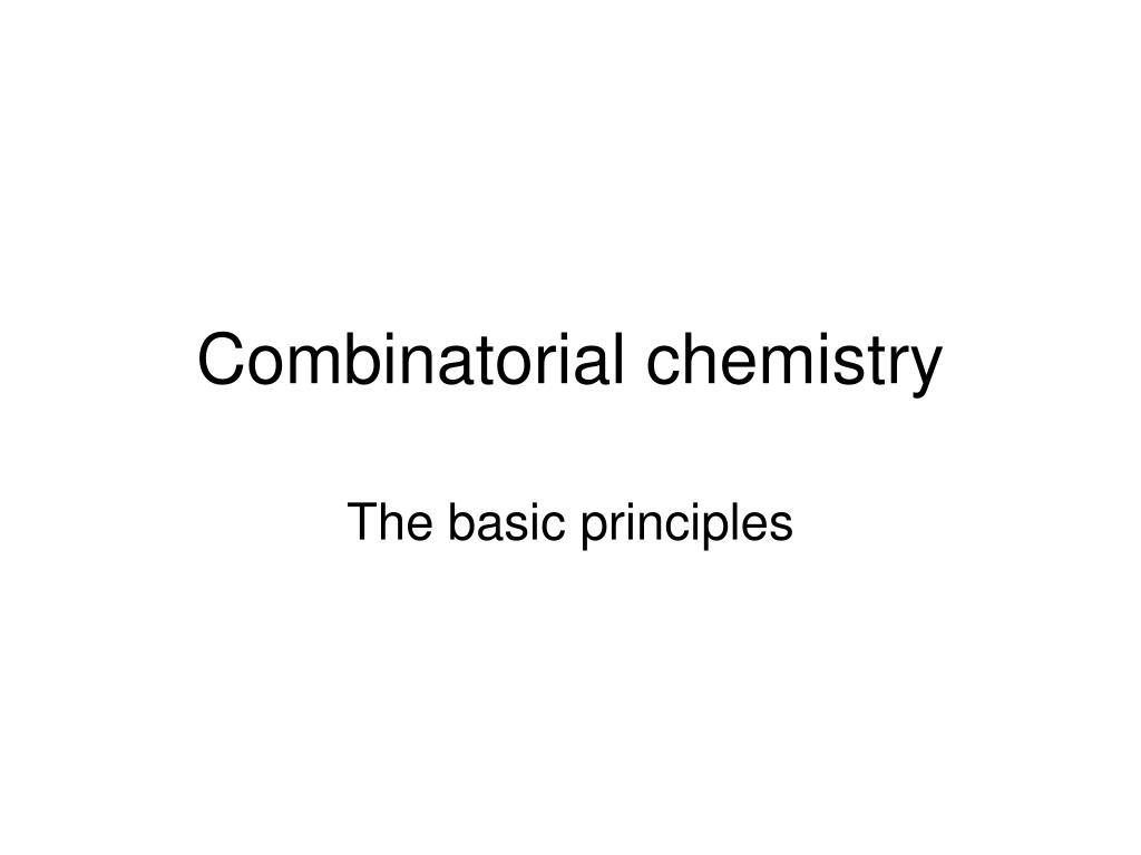 combinatorial chemistry l.