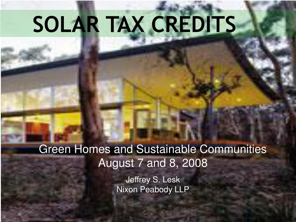 solar tax credits l.