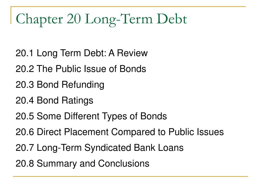 chapter 20 long term debt l.
