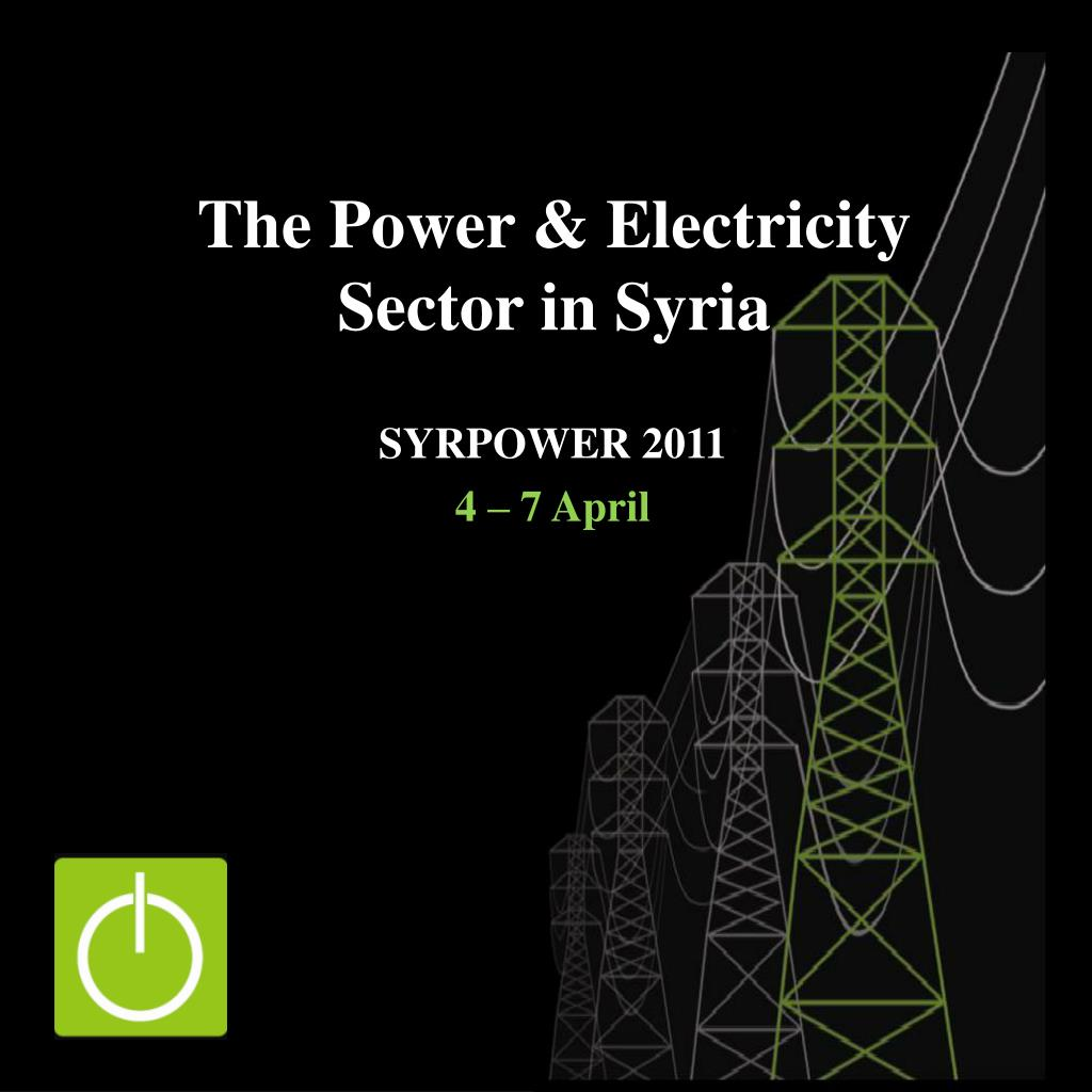the power electricity sector in syria l.
