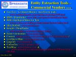 entity extraction tools commercial vendors 020204