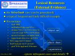 lexical resources external evidence