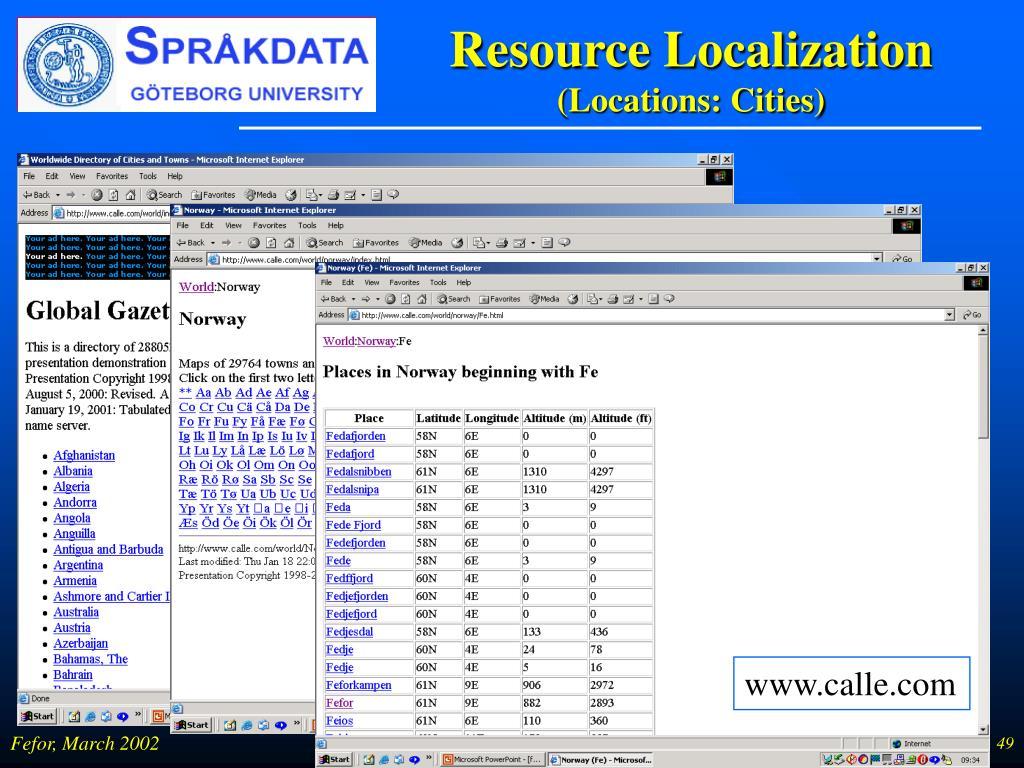 Resource Localization