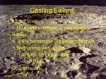 casting failure