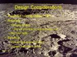 design considerations7
