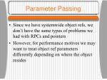 parameter passing