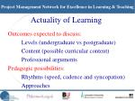 actuality of learning