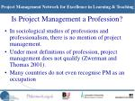 is project management a profession