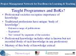 taught programmes and boks