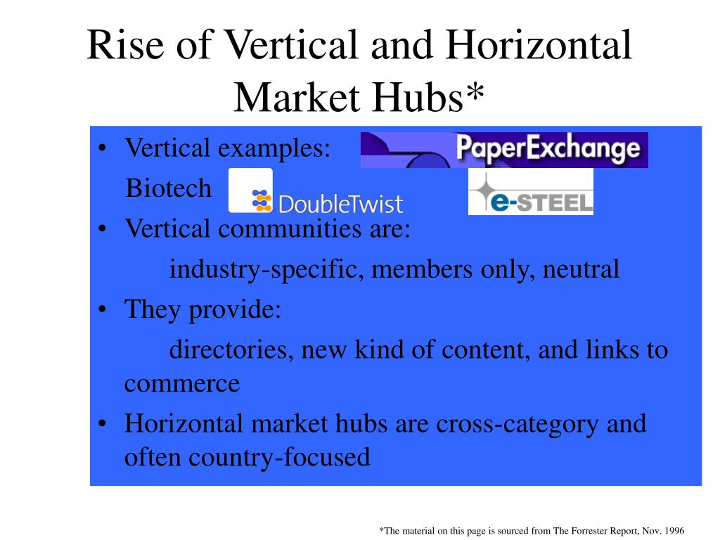 Rise of Vertical and Horizontal Market Hubs*